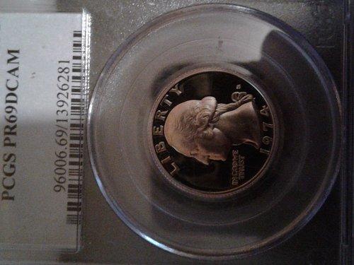 1974-s pcgs pr69dcam proof quarter