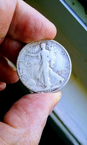 WALKING LIBERTY HALF 1917 p.