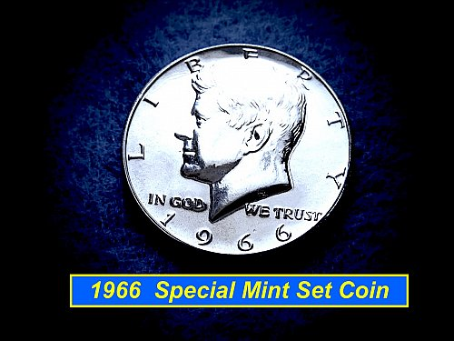 "1966  ""SPECIAL MINT SET""  Half Dollar ☆  ☆  (#1827)a"