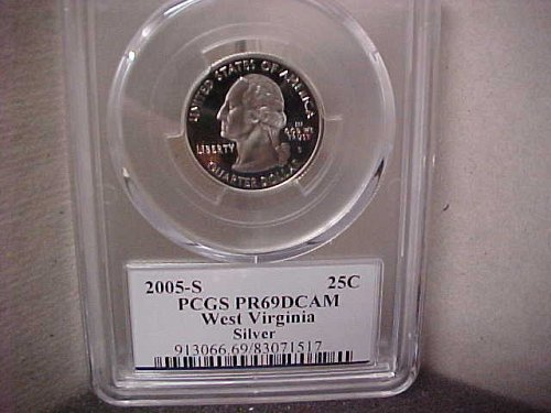 2005-S 25 Cent Washington PCGS PR69 DCAM #71517