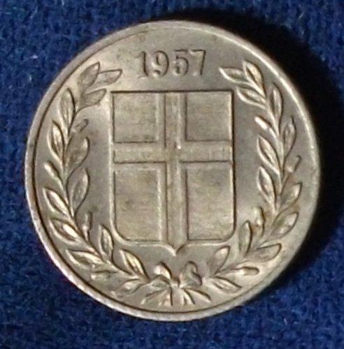 1957 Iceland 25 Aurar AU