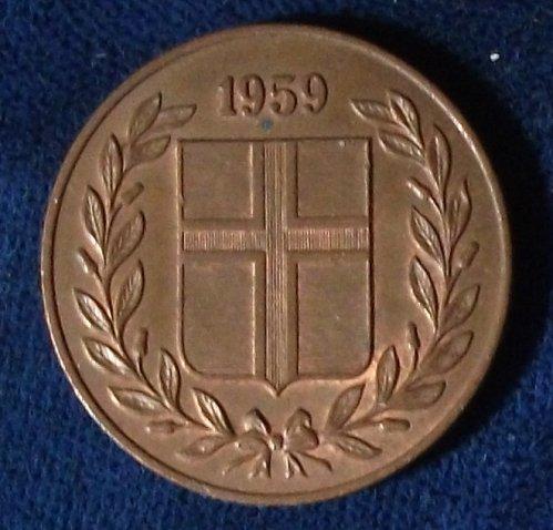 1959 Iceland 5 Aurar AU