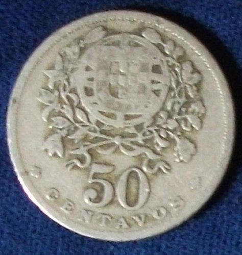 1928 Portugal 50 Centavos VG