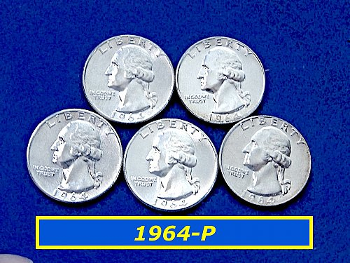 1964-P   Washington Quarter  ✬  UNC  ✬ (#2552)a