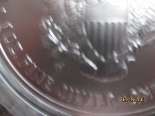 2007-W American Silver Eagle-Burnished-Uncirculated Coin