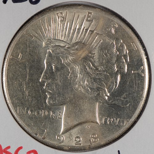 1928 $1 Peace Dollar Mint State #169489