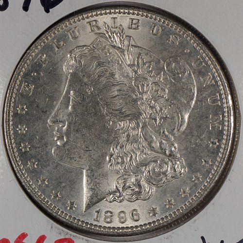 1896 $1 Morgan Silver Dollar Mint State #166729