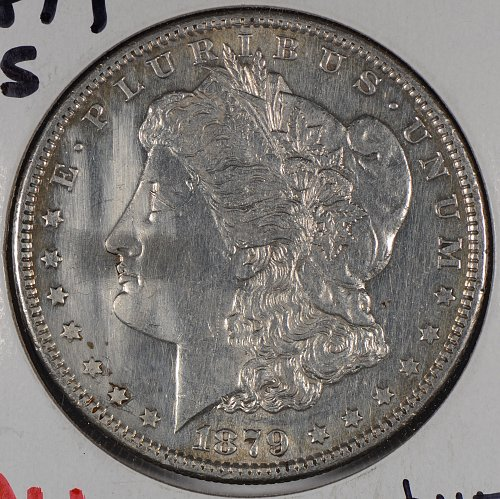 1879-S $1 Morgan Silver Dollar About Uncirculated #167490