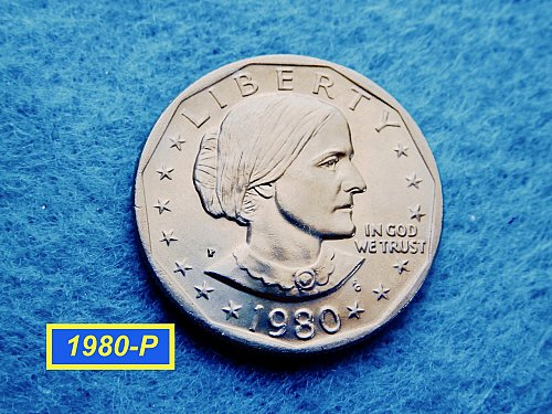 1980-P Susan B Anthony  ☆ Mint State ☆    (#5435)a