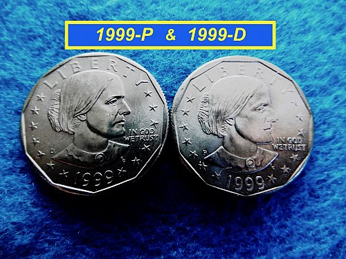 1999-P and D Susan B Anthony's  ☆ Mint State ☆    (#5436)a