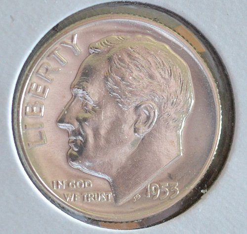 1953 Roosevelt Silver Dime Proof