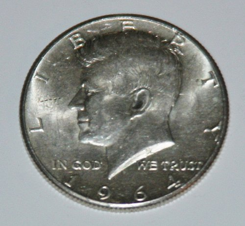 COLLECTIBLE SILVER 1964-P KENNEDY 50C HALF DOLLAR.....AU-BU....6.....