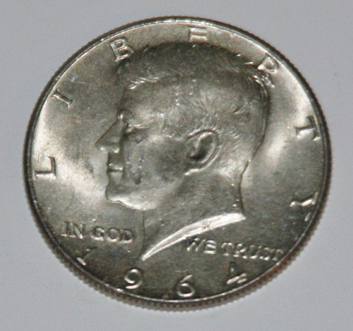 COLLECTIBLE SILVER 1964-P KENNEDY 50C HALF DOLLAR.....AU-BU....7....