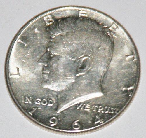 COLLECTIBLE SILVER 1964-P KENNEDY 50C HALF DOLLAR.....AU-BU....8.....