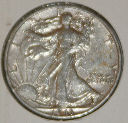 COLLECTIBLE *SILVER* 1943-D WALKING LIBERTY HALF DOLLAR.....XF....2A