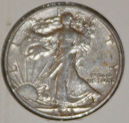 COLLECTIBLE *SILVER* 1943-D WALKING LIBERTY HALF DOLLAR.....XF....2A