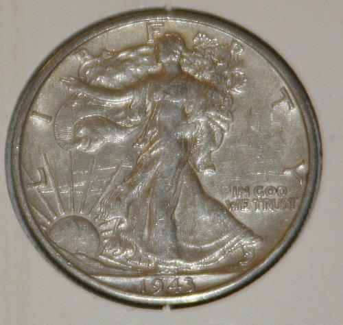 COLLECTIBLE *SILVER* 1943 WALKING LIBERTY HALF DOLLAR.....XF....4A