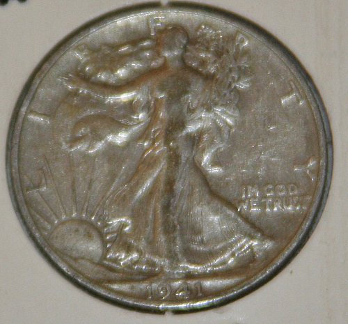 COLLECTIBLE *SILVER* 1941-D WALKING LIBERTY HALF DOLLAR.....XF....7A