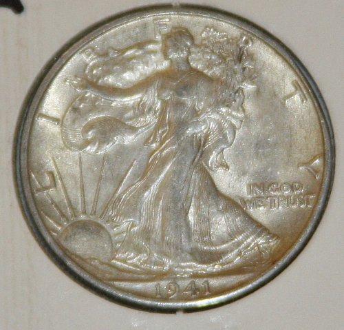 COLLECTIBLE *SILVER* 1941-S WALKING LIBERTY HALF DOLLAR.....XF....8A