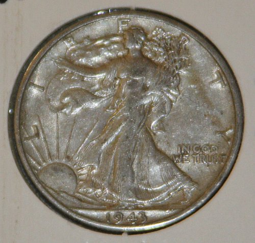 COLLECTIBLE *SILVER* 1943-D WALKING LIBERTY HALF DOLLAR.....XF....10A