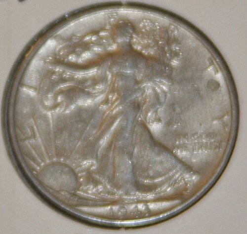 COLLECTIBLE *SILVER* 1943 WALKING LIBERTY HALF DOLLAR.....XF....11A