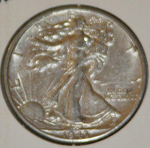 COLLECTIBLE *SILVER* 1943-D WALKING LIBERTY HALF DOLLAR.....XF....12A