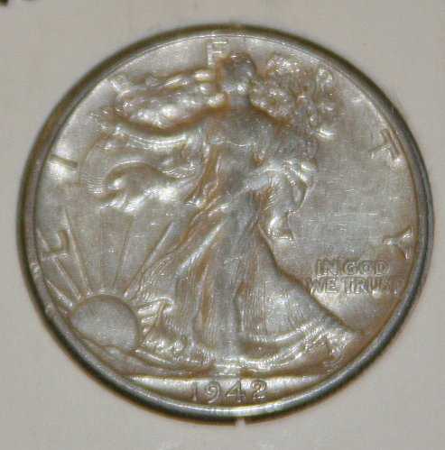 COLLECTIBLE *SILVER* 1942-D WALKING LIBERTY HALF DOLLAR.....XF....14A