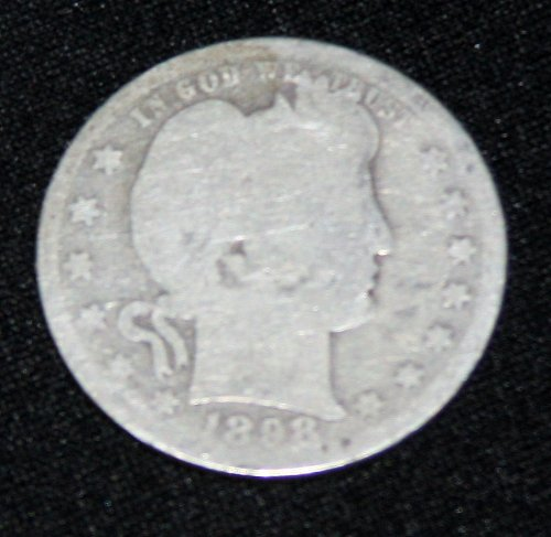 COLLECTIBLE *SILVER* 1898-P BARBER QUARTER.....3A.....
