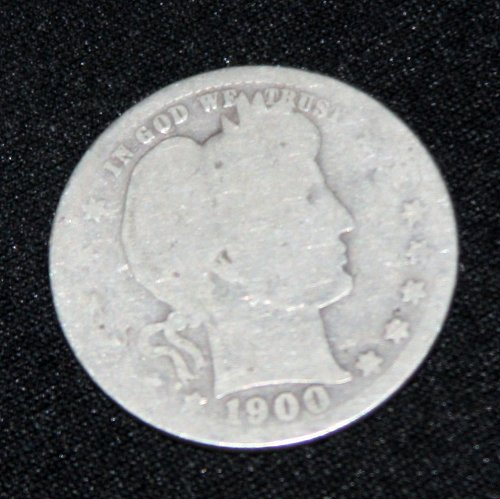 COLLECTIBLE *SILVER* 1900-P BARBER QUARTER.....4A.....