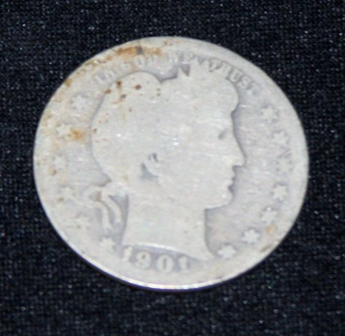 COLLECTIBLE *SILVER* 1901-P BARBER QUARTER.....5A.....