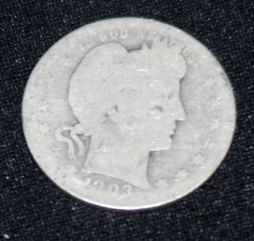 COLLECTIBLE *SILVER* 1903-P BARBER QUARTER.....8A.....