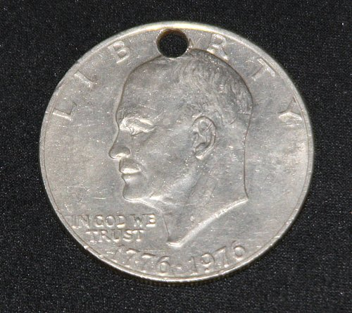 COLLECTIBLE 1976 EISENHOWER SILVER DOLLAR....FLAWS.....