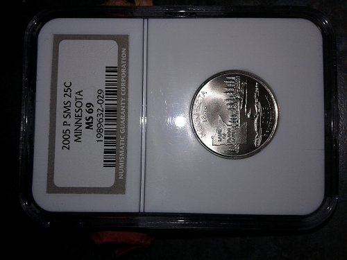 2005-p sms ngc ms69 mn state quarter