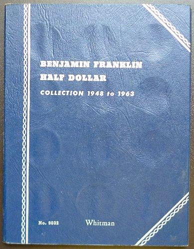 Coin Album for Beginners: USA Benjamin Franklin Half Dollar coins 1948 to 1963