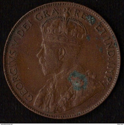 1920 Canada 1 Large Cent World Coin - Canada - Fine - Red Brown / Minor Corosion