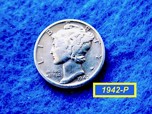 "1942--P Roosevelt Dime  ✬  ""Fine to VF Condition   ✬   (#3745)a"