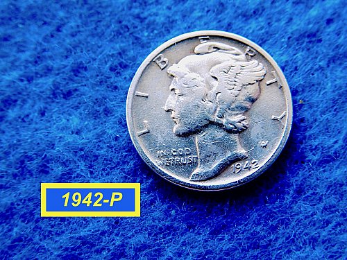 """1942--P Roosevelt Dime  ✬  """"Fine to VF Condition   ✬   (#3746)a"""