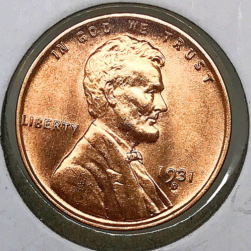 1931 D Lincoln Wheat Cent - MS RD - Gem BU Red