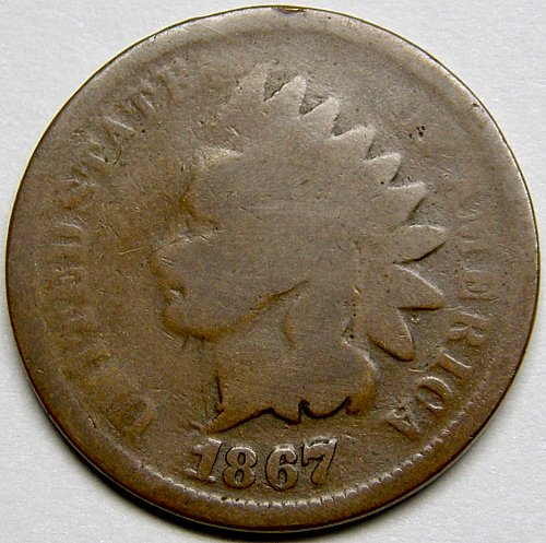 1867/67 Indian Head Cent SNOW-1  FS-01-1867-301