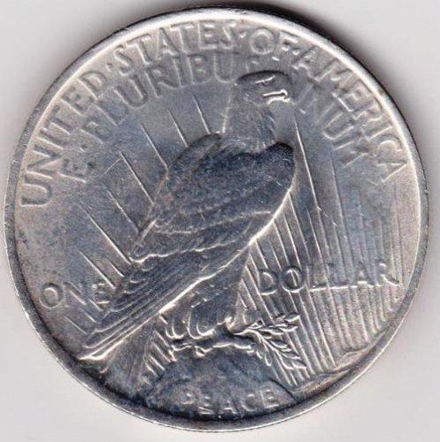 1923 Silver Peace Dollar.