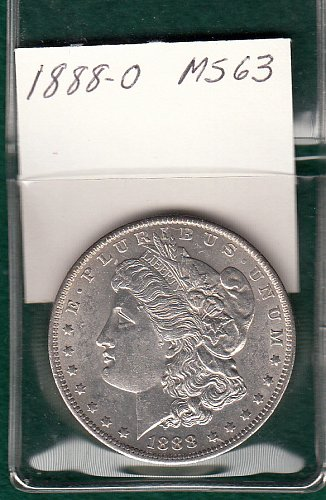 1888-o   Morgan Silver Dollar  /  DR-60