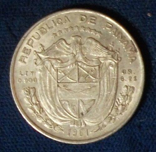 1961 Panama 1/4 Balboa VF+