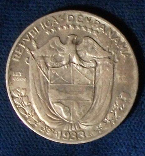 1933 Panama 1/4 Balboa VF