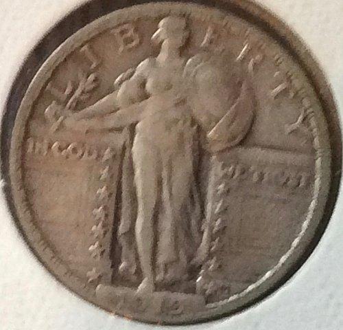 1919 P Standing Liberty Quarters