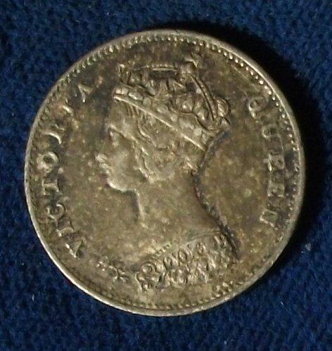 1868 Hong Kong 10 Cents XF