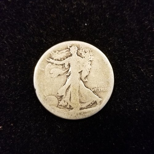 1918 S Silver Walking Liberty Half Dollar