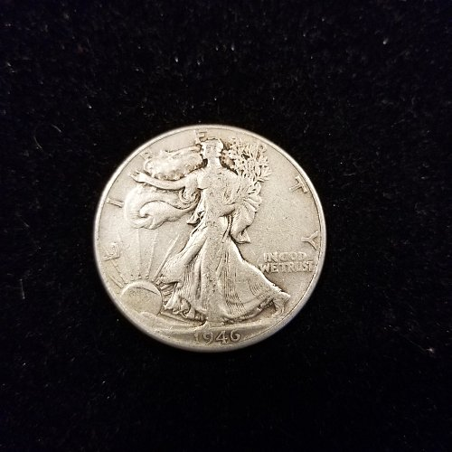 1946 P Silver Walking Liberty Half Dollar
