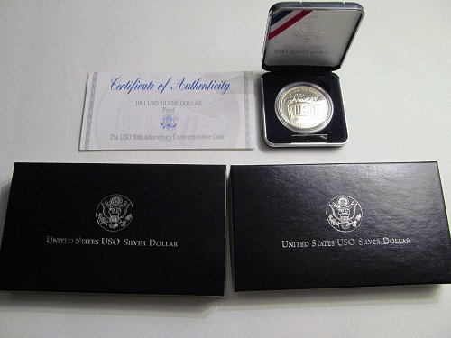 1991 USO Silver Dollar Proof