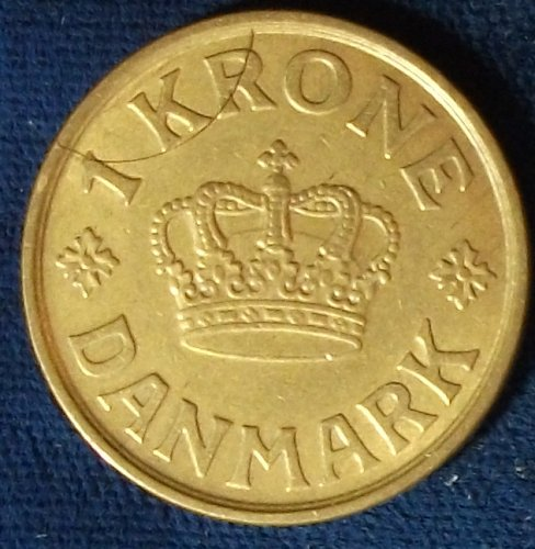 1925 Denmark Krone VF Lamination