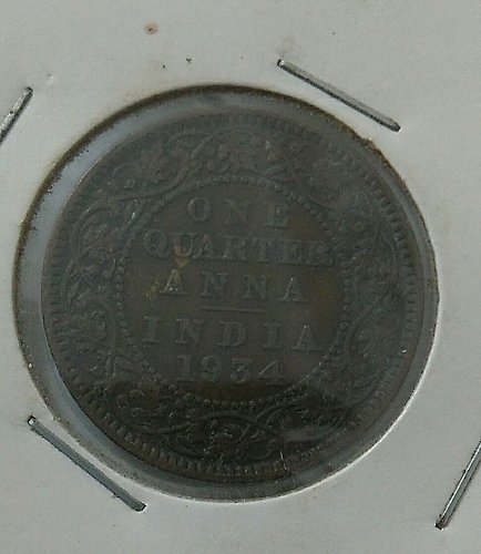 1934...India circulated coin